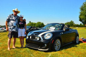 Bill and Patty with their Mini